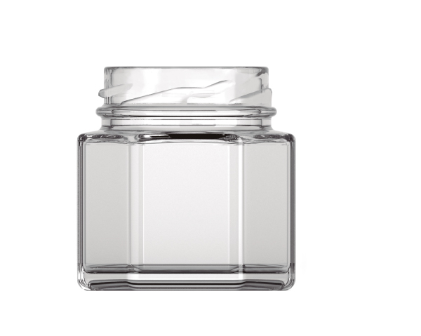 Premium Glass Bottle MINIJAM Hexagonal