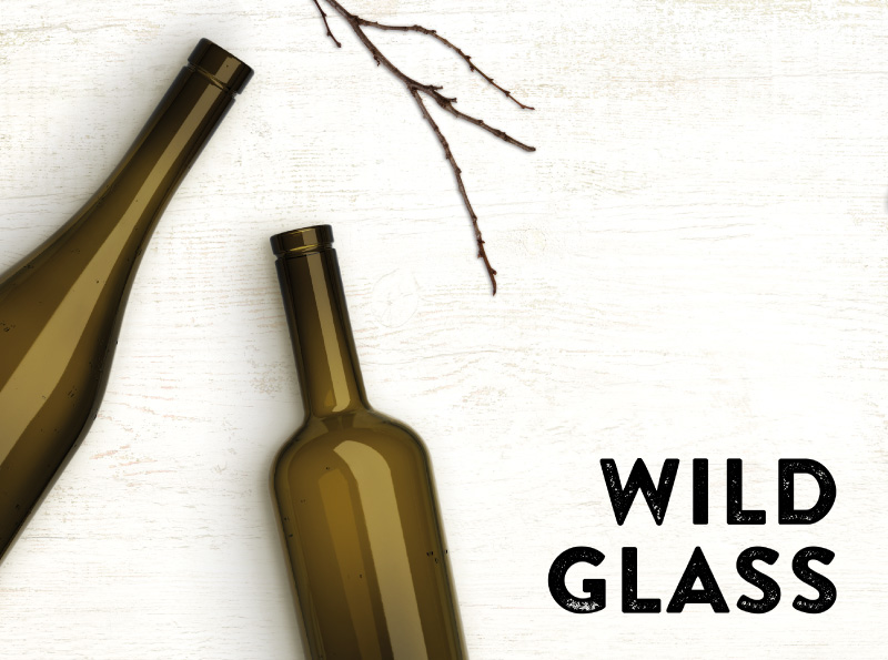 WILD GLASS RECYCLED BOTTLES